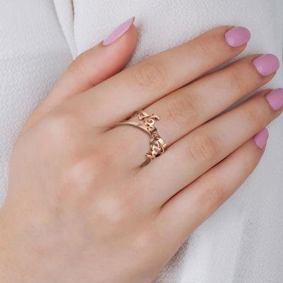 Custom Infinity Name Fashion Ring