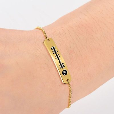Scannable Spotify Code Custom Music Song Bar Bracelet