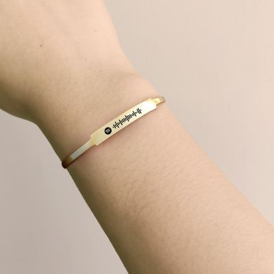 Scannable Spotify Code Custom Music Song Cuff Bracelet