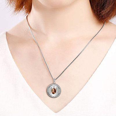 "Personalized Photo Pendant Necklace Adjustable 16""-20"""