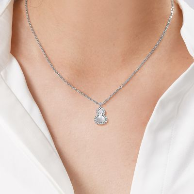 Pearl Diamond Gourd Necklace