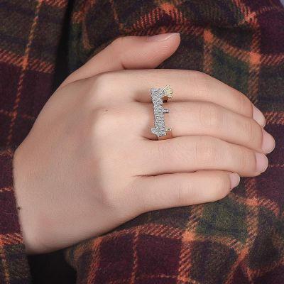 Custom Crown Two Tone Name Ring
