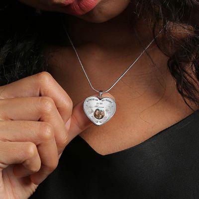 "Custom Photo Memorial  Necklace Adjustable 16""-20"""