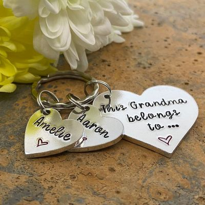 Custom Engraved Heart Keychain
