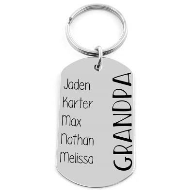 Custom Multi-name keychain