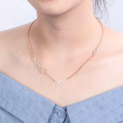 Personalized Dopamine Molecule Name Necklace Adjustable 16