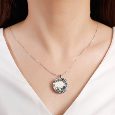 Personalized Locket Necklace with Birthstone