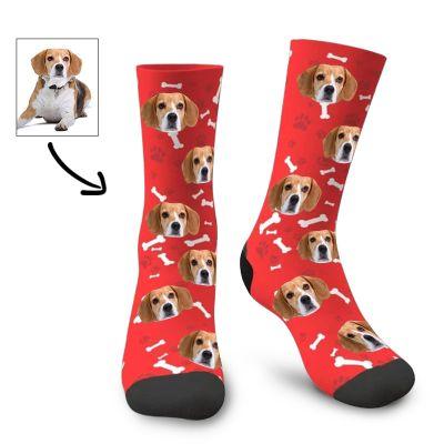 Custom Cute Pets Face Socks