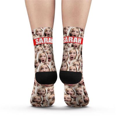 Custom Face Mash Socks Add Picture and Name