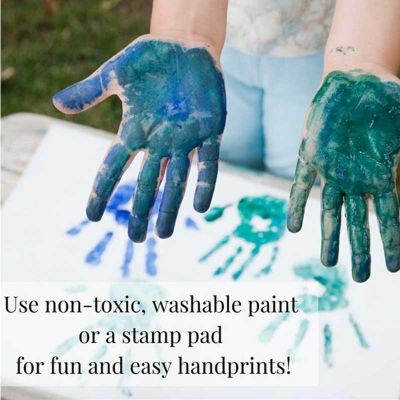 Best Dad Hands Down Kids Handprint Frame DIY Gift