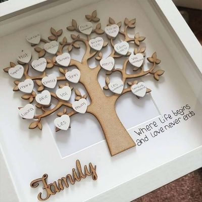 Personalized Name Family Tree Frame | 8*8 Inches