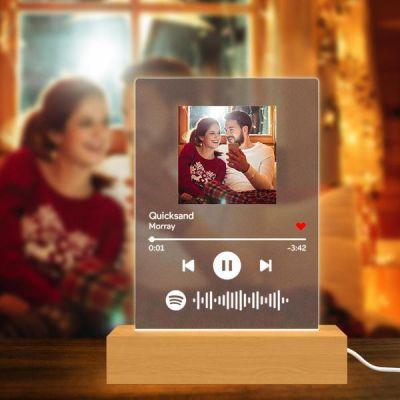 Scannable Custom Spotify Code Lamp Acrylic Music Plaque Night Light Romantic Gifts