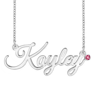 Amarley Personalized Name Necklace with Birthstone