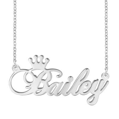 Amarley Personalized 925 Sterling Silver Name Necklace