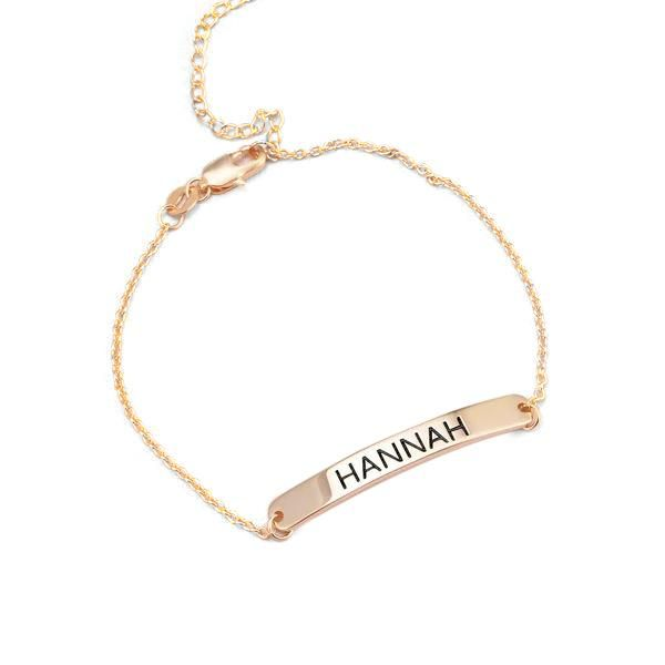 Personalized Bar Engraved Bracelet